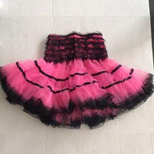 Dresses & Skirts - Pink and black mini tutu skirt size small adult